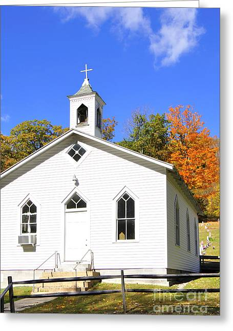 Allegheny Greeting Cards - Country Church in the Mountains Greeting Card by Thomas R Fletcher