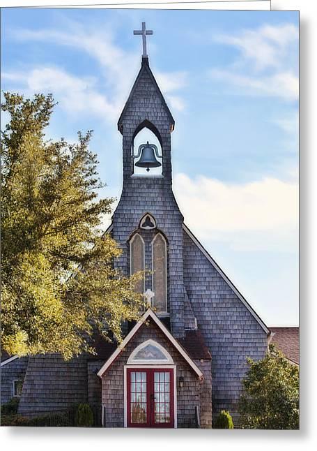 Joan Bertucci Greeting Cards - Country Church Greeting Card by Joan Bertucci