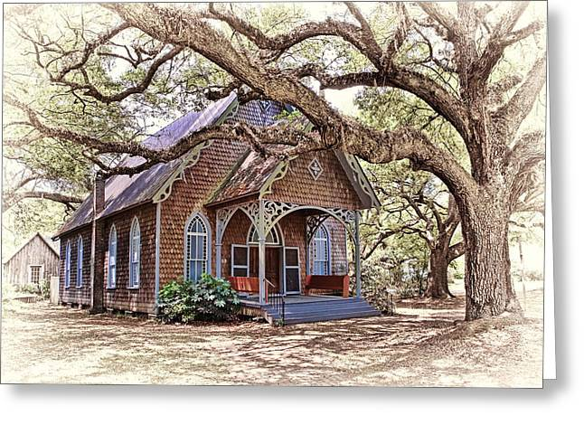 Up And Coming Greeting Cards - Country Church Greeting Card by Marcia Colelli
