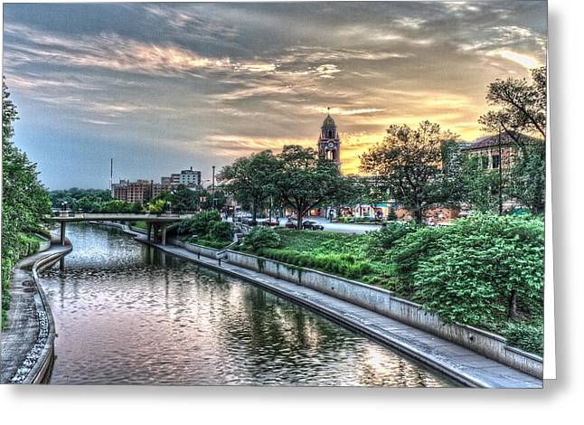 Riverwalk Greeting Cards - Country Club Plaza  Greeting Card by Corey Cassaw