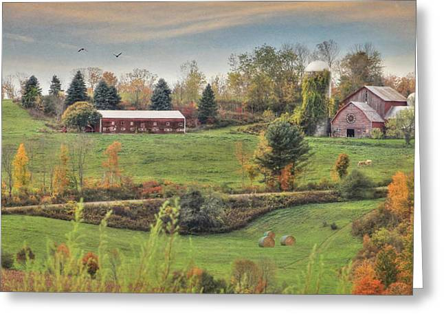 Barn Digital Greeting Cards - Country Colors Greeting Card by Lori Deiter