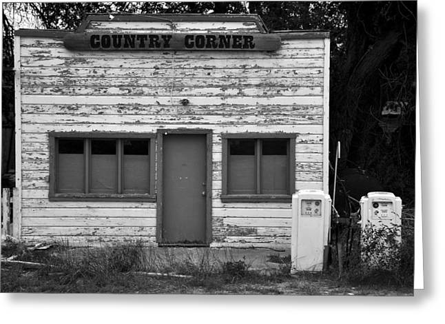 Historic Country Store Photographs Greeting Cards - Country corner Greeting Card by David Lee Thompson