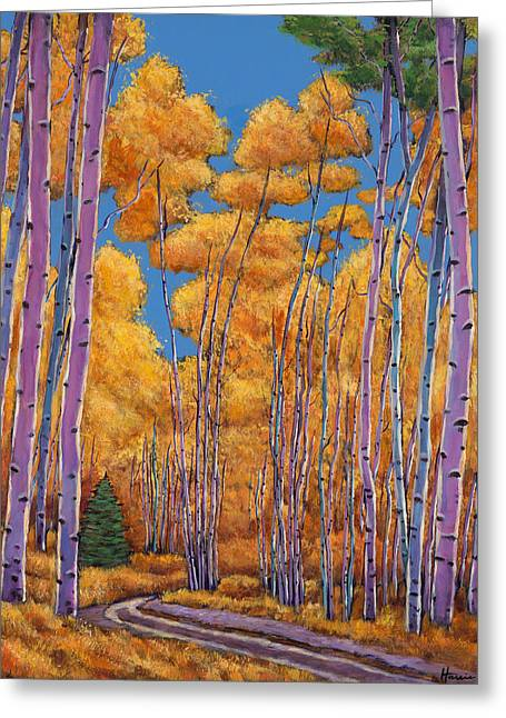 Birch Trees Greeting Cards - Country Corner Greeting Card by Johnathan Harris
