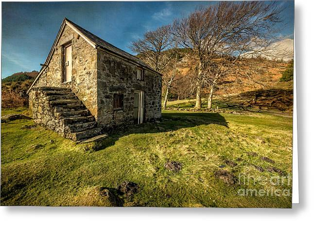 Stepping Stones Greeting Cards - Country Cottage Greeting Card by Adrian Evans