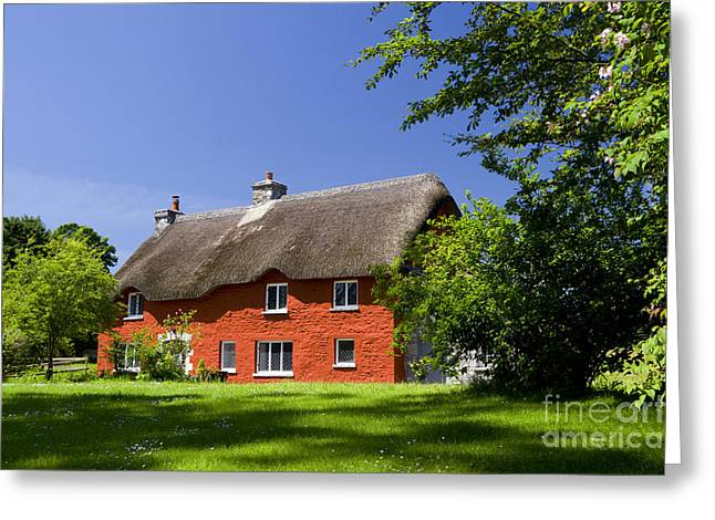 Merthyr Greeting Cards - Country Cottage Greeting Card by Graham Bell