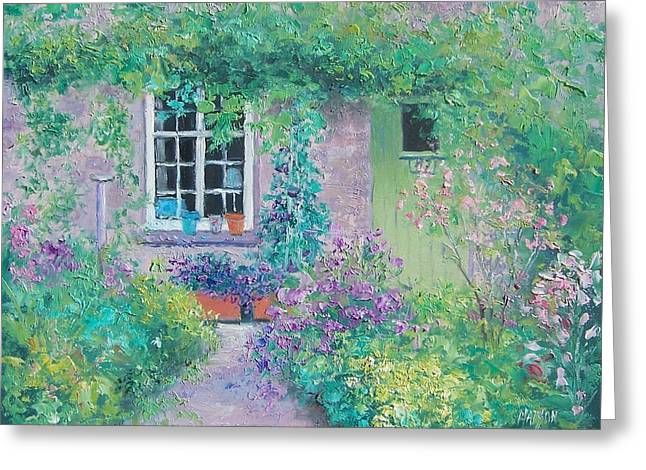 Cottage Print Greeting Cards - Country cottage Greeting Card by Jan Matson