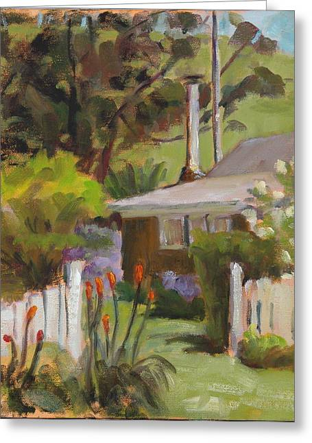 Pleinair Greeting Cards - Country Cottage Greeting Card by Joyce Delario