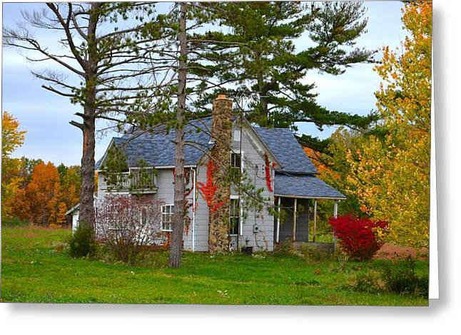 Old House Photographs Photographs Greeting Cards - Country Cottage Greeting Card by Julie Dant
