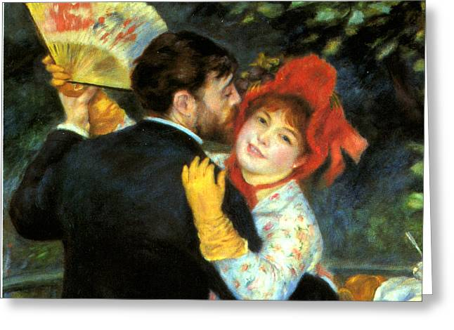 Bougival Greeting Cards - Country Dance Detail Greeting Card by Pierre Auguste Renoir
