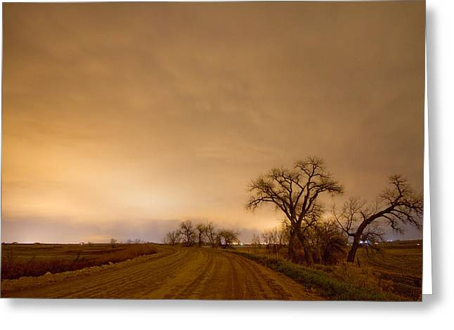 Country Dirt Roads Greeting Cards - Country Dirt Road Into The Storm Greeting Card by James BO  Insogna