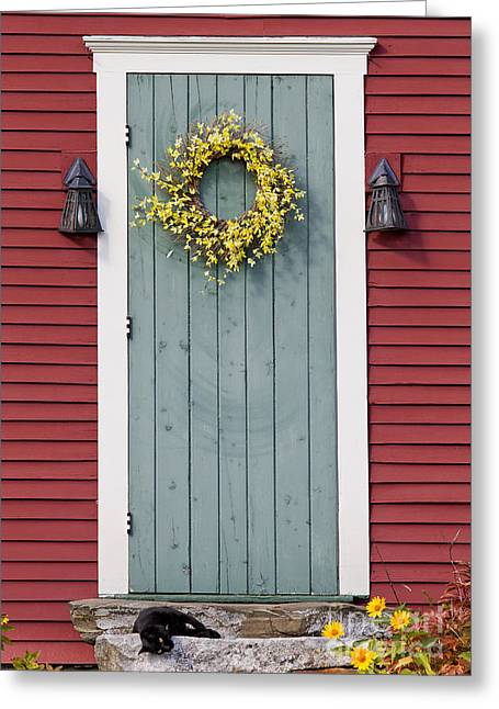 Stepping Stones Greeting Cards - Country Door Greeting Card by Alan L Graham