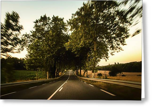 Scenic Drive Greeting Cards - Country Drive Greeting Card by Pixabay