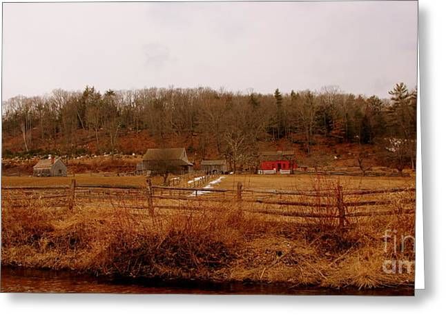 New England Village Greeting Cards - Country Farm Greeting Card by Leonard Malvone