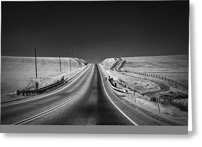 Country Farm Road Greeting Card by Anthony Citro
