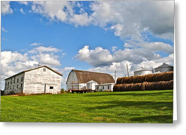 Amish Family Greeting Cards - Country Farm Greeting Card by Frozen in Time Fine Art Photography