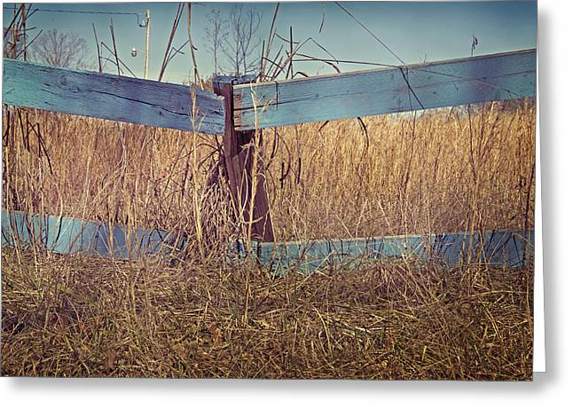 Purchase Photography Online Greeting Cards - Country Fence Greeting Card by Steven  Michael