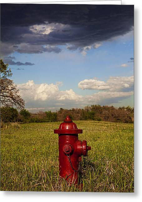 Rural Southern Oklahoma Greeting Cards - Country Fire Hydrant Greeting Card by Toni Hopper