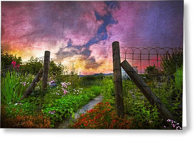 Swiss Photographs Greeting Cards - Country Garden Greeting Card by Debra and Dave Vanderlaan