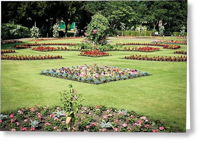 Abbey Greeting Cards - Country garden Greeting Card by Tom Gowanlock