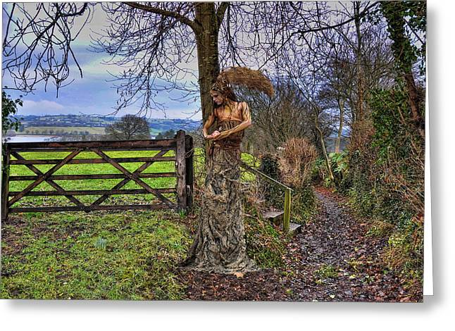 Country Lanes Digital Art Greeting Cards - Country Girl Greeting Card by Alex Hardie