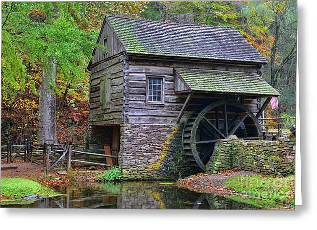 Country Grist Mill Greeting Card by Paul Ward