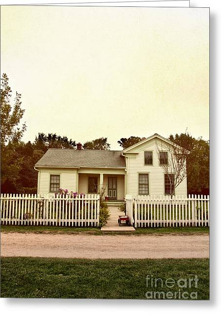 Country Home Greeting Card by Margie Hurwich