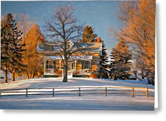 Country Home oil Greeting Card by Steve Harrington