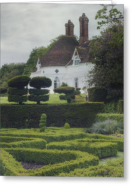 Maze Greeting Cards - Country House Greeting Card by Joana Kruse