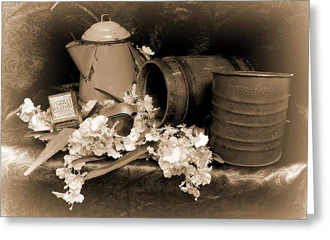 Old Pitcher Greeting Cards - Country Kitchen 3 Greeting Card by Pamela Walton