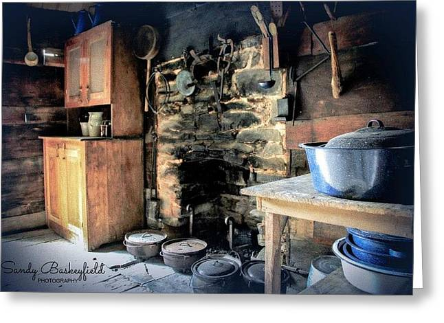 Tennessee Landmark Greeting Cards - Country Kitchen Greeting Card by Sandy Baskeyfield