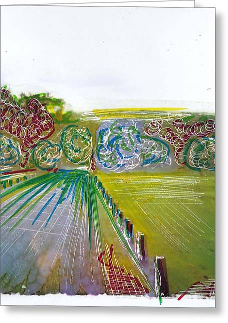 Country Lane 3 Greeting Card by Nyree Goad