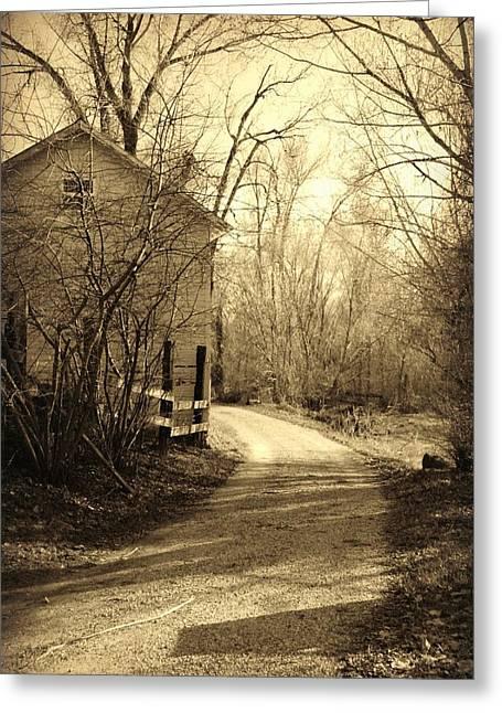 Rire Greeting Cards - Country Lane Greeting Card by Dana  Mallard