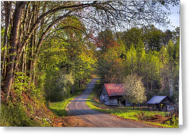 Tn Greeting Cards - Country Lanes Greeting Card by Debra and Dave Vanderlaan