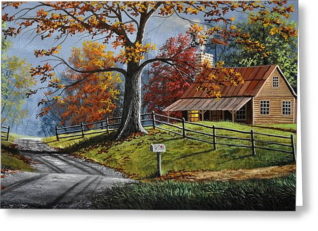 Country Life Greeting Card by Gary Adams