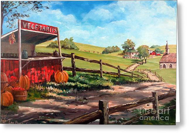 Indiana Autumn Greeting Cards - Country Life Greeting Card by Lee Piper
