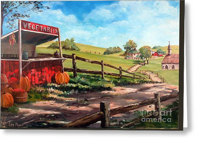 Country Life Greeting Card by Lee Piper