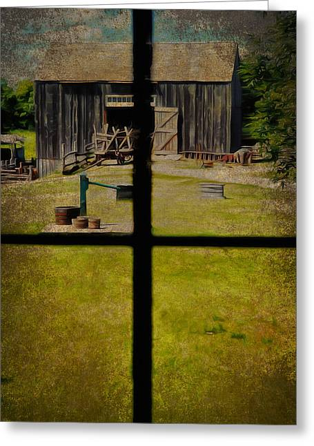 Old Country Roads Mixed Media Greeting Cards - Country Living  Greeting Card by Todd and candice Dailey