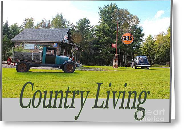 Country Living Greeting Card by Joseph Marquis