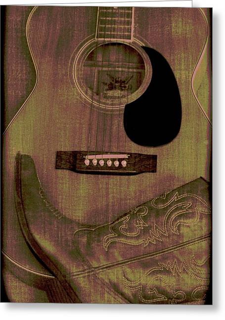 Country Cowgirl Greeting Cards - Country Music Greeting Card by Dan Sproul
