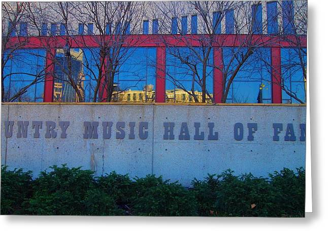 Nashville Tennessee Greeting Cards - Country Music Hall Of Fame Greeting Card by Dan Sproul