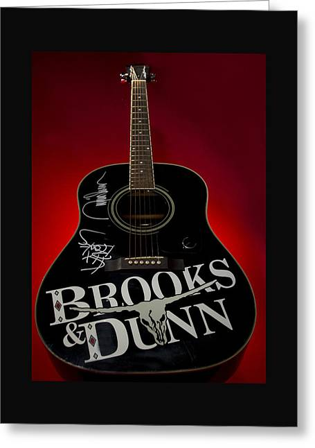 Autographed Guitars Greeting Cards - Country Music Symbol Greeting Card by Honour McLeod