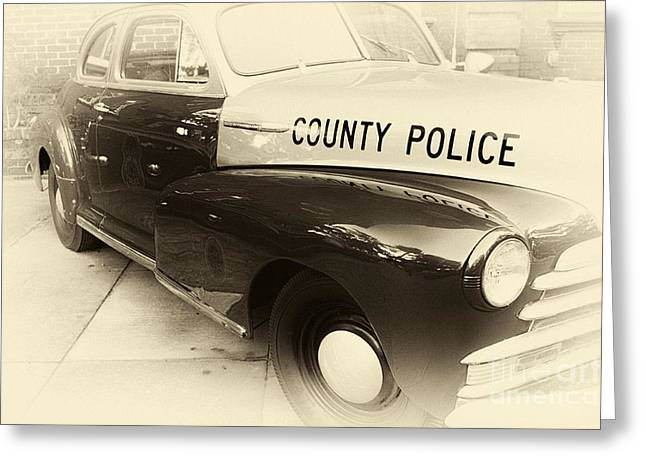 Law Enforcement Art Photographs Greeting Cards - Country Police antique toned Greeting Card by John Rizzuto
