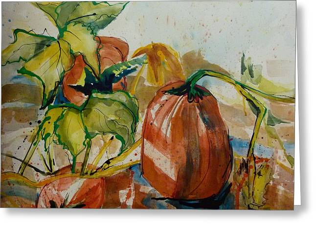 Country Pumpkins Greeting Card by Suzanne Willis