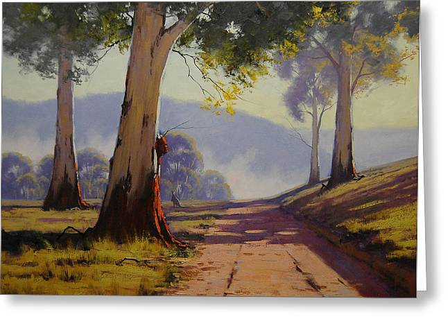 River Paintings Greeting Cards - Country Road Australia Greeting Card by Graham Gercken