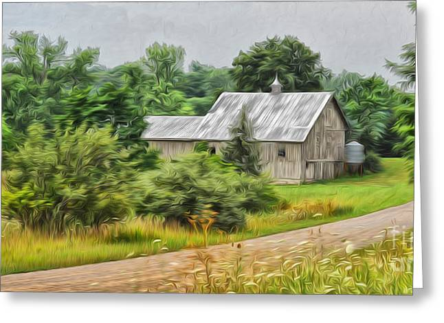 Country Dirt Roads Digital Greeting Cards - Country Road Greeting Card by Brian Mollenkopf
