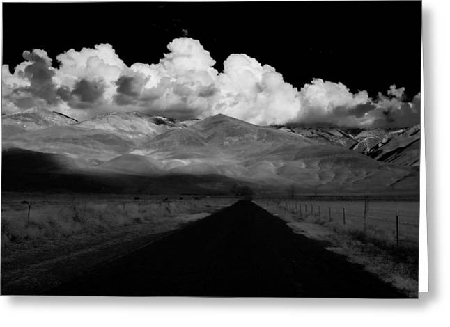 Cloud Greeting Cards - Country Road Greeting Card by Cat Connor