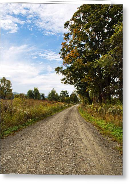 Gravel Road Greeting Cards - Country Road Greeting Card by Christina Rollo