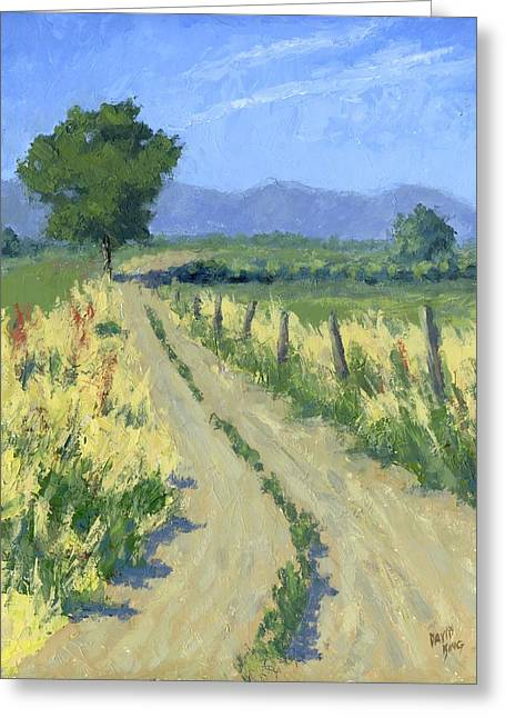 Country Dirt Roads Greeting Cards - Country Road Greeting Card by David King