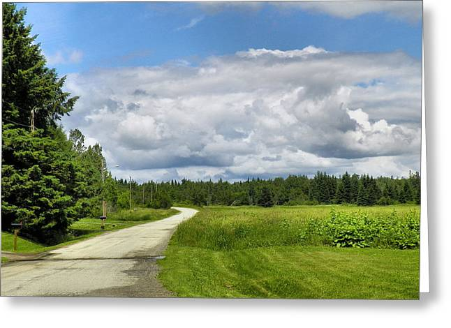 Rural Maine Roads Photographs Greeting Cards - Country Road Greeting Card by Gene Cyr