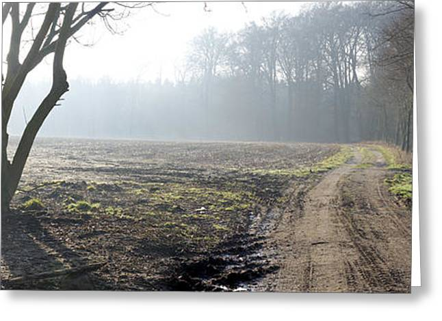 Mud Season Greeting Cards - Country Road Greeting Card by Hans Engbers